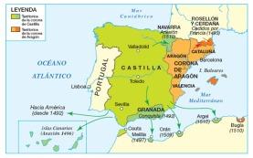 Resultado de imagen de Mapa la politica de los reyes catolicos